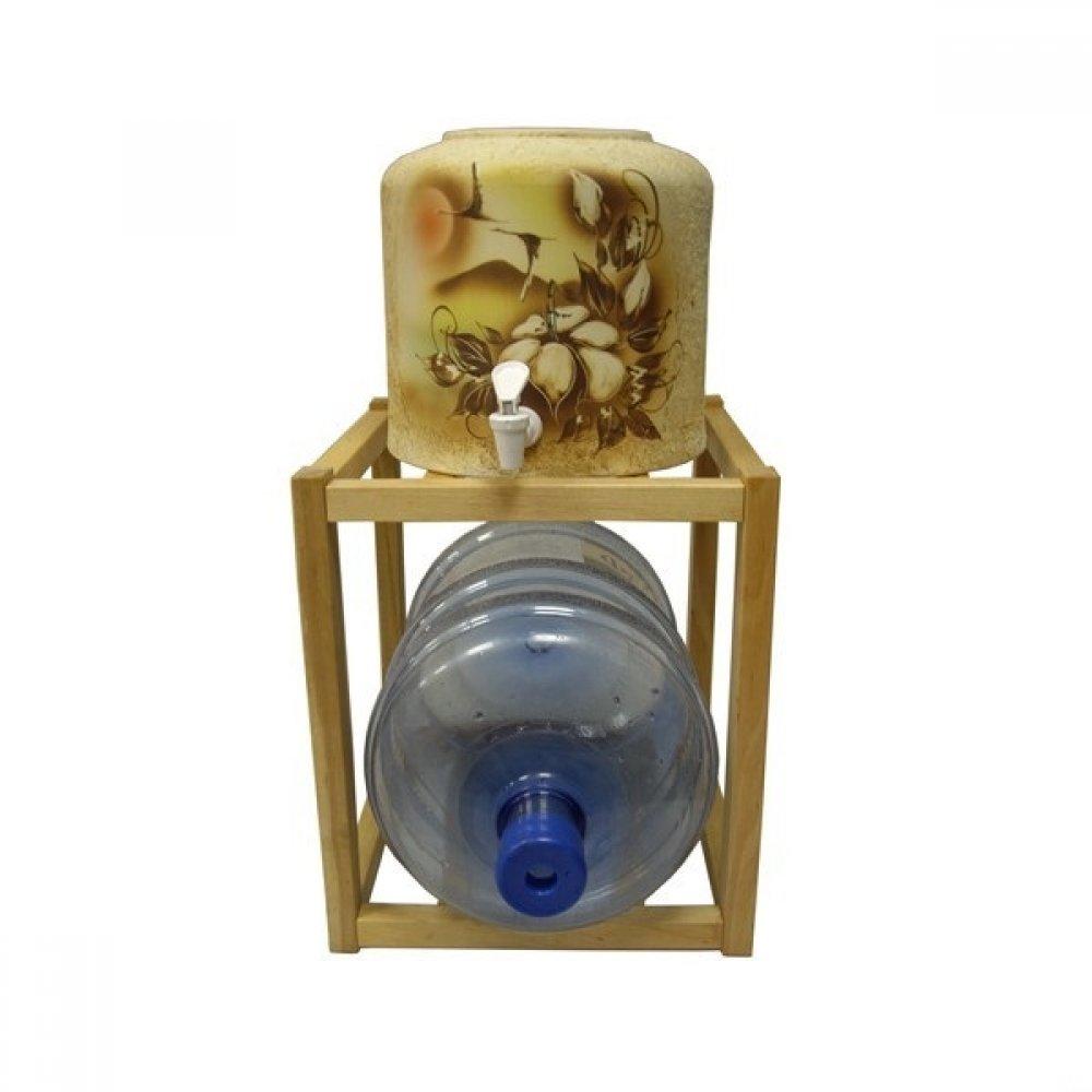 Подставка деревянная под 1 бутыль (светлая)
