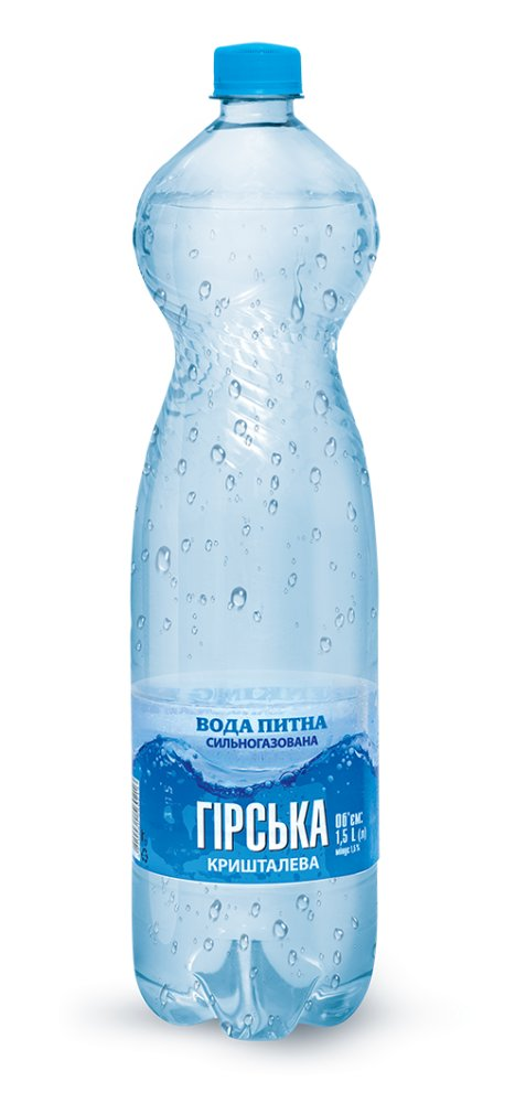 Упаковка воды питьевой сильногазированная Гірська кришталева 1.5л х 6 шт